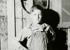 boy and electric meter