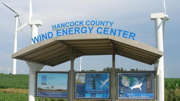 hancock county wind power center