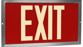 Exit-sign-photoluminescent