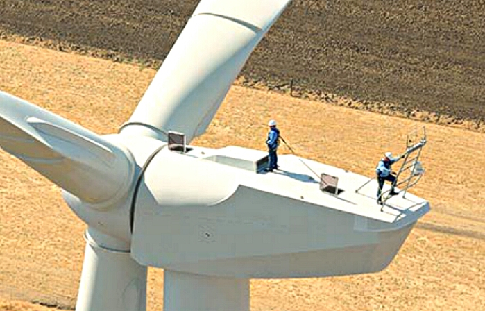 Investing in Wind Energy Requires Stable PTC Policy - wind turbine workers from awea.org