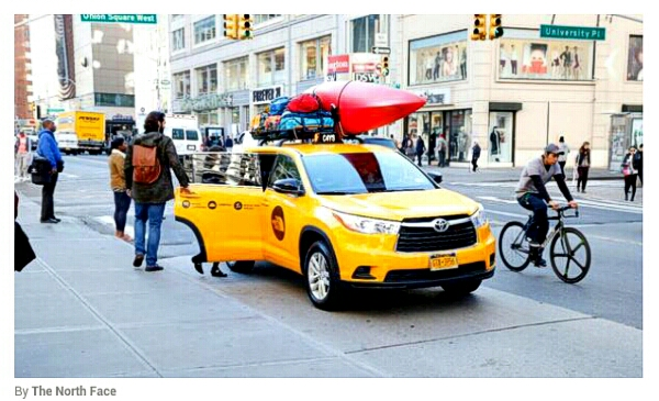 the north face seeforyourself taxi in new york city by the north face